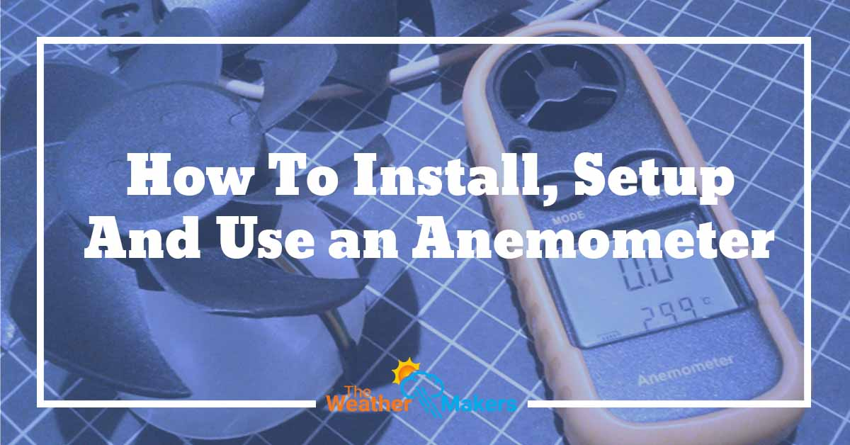 how to install anemometer